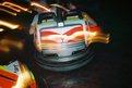 Dodgem with light trail