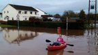 Dave Burrows photographed a kayaker in Cullompton, Devon