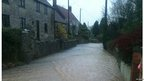 Tim Baker flooding on Goose Lane in Chilternpolden, Somerset.