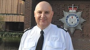 Chief Constable Simon Ash, Suffolk Police headquarters