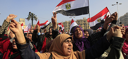Protest in Tahrir Square, Cairo, in early 2012