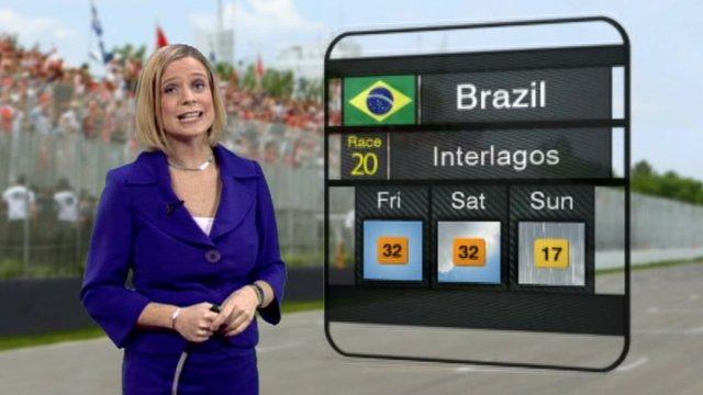 Гран-При Бразилии 2012, квалификация, Прогноз погоды