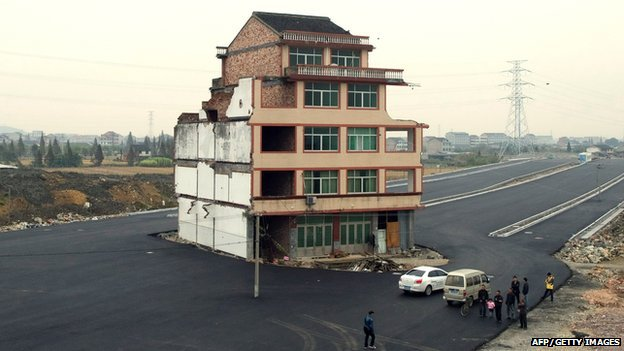Lone house in Wenling, China