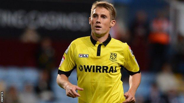 Tranmere Rovers midfielder Danny Harrison