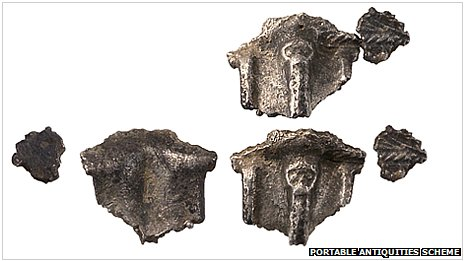 Fragments of Anglo-Saxon brooch
