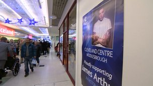 X Factor poster in Middlesbrough shopping centre