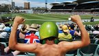 Cricket fans at the Adelaide Oval, in Australia