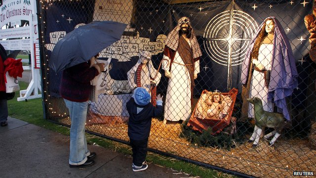 2011's Nativity Scene in Palisades Park