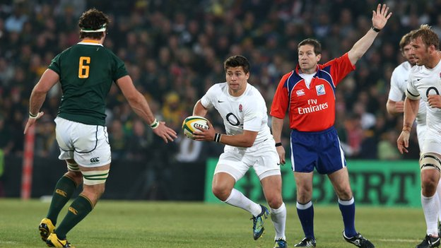 Ben Youngs takes a tap penalty against South Africa in June