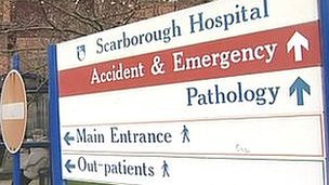 Scarborough Hospital sign