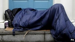 Person sleeping rough