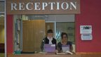 Students Anna and Rosie became school receptionists on England Children&#039;s Commissioner&#039;s Takeover Day