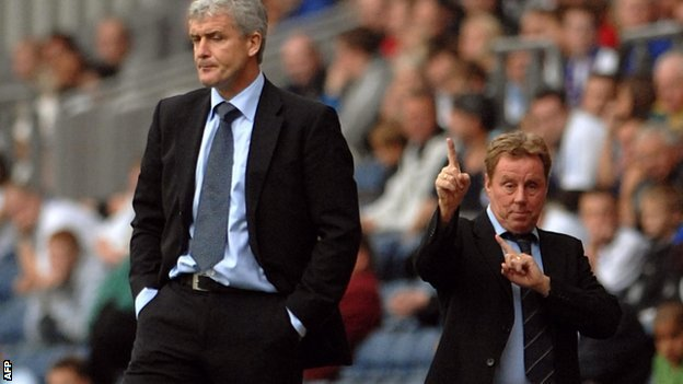 Mark Hughes and Harry Redknapp