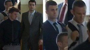 Curtis Taylor, Daniel Bell, Sean Branton and Joseph Bruckland