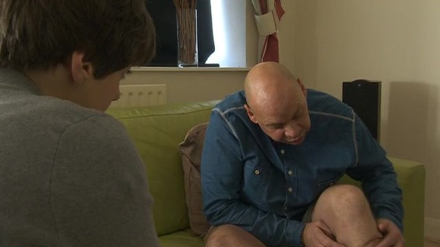 Former postman shows dog attack injuries