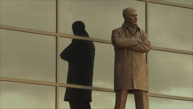 A statue of Sir Alex Ferguson
