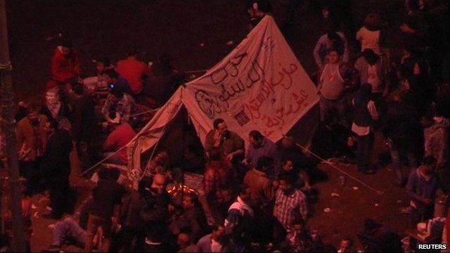 Opposition supporters in Tahrir Square, Egypt
