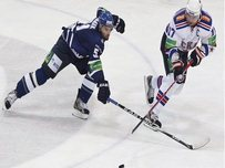 New Jersey Devils forward Ilya Kovalchuk (r) playing for St Petersburg in the Russian league