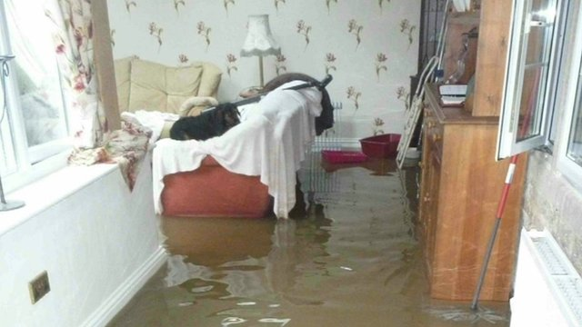 Home of flooding victim Carol Watling