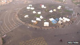 Tents camped on Tahrir Square, Cairo, 24 November 2012
