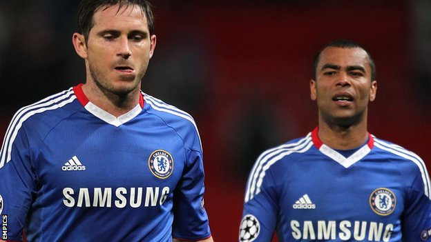 Chelsea&#039;s Frank Lampard and Ashley Cole