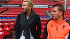 Robbie Savage and Brendan Rodgers