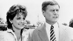 Linda Gray (left) and Larry Hagman (file image from January 1985). 