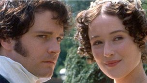 mr darcy and lizzie bennet from pride and prejudice