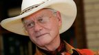 Actor Larry Hagman visits the Southfork Ranch in Parker, Texas (file image from 9 Oct 2008).