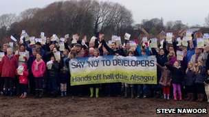 Alsager protest