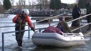 Rescue craft at Billing Aquadrome