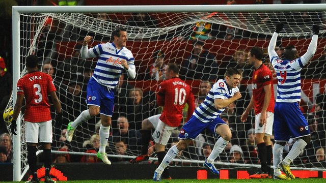 Jamie Mackie gives QPR the lead against Manchester United