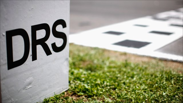 A Formula 1 DRS activation point