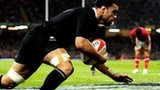 Liam Messam runs in New Zealand's first try
