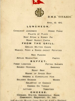 Two Titanic Menus Fetch More Than 100 000 At Auction In