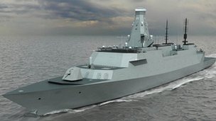 An artist's impression of the new Type 26 frigate