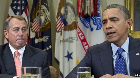 John Boehner and Barack Obama