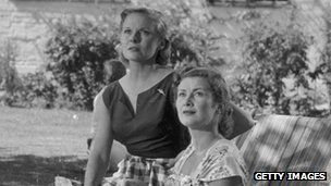 Sheridan (right), with Ann Todd in the David Lean film The Sound Barrier