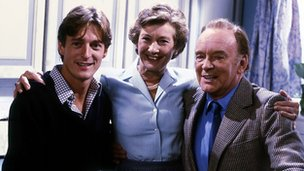 Nigel Havers, Dinah Sheridan and Tony Britton in Don't Wait Up