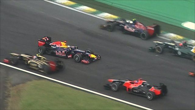 Sebastian Vettel faces backwards