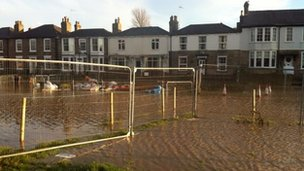 Flooding in Beverley in the Willow Grove area