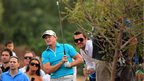 Jamie Donaldson keeps his eyes on this shot at the European tour finale in Dubai