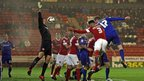 Aron Gunnarsson doubles Cardiff's lead against Barnsley with a header from another Peter Whittingham corner