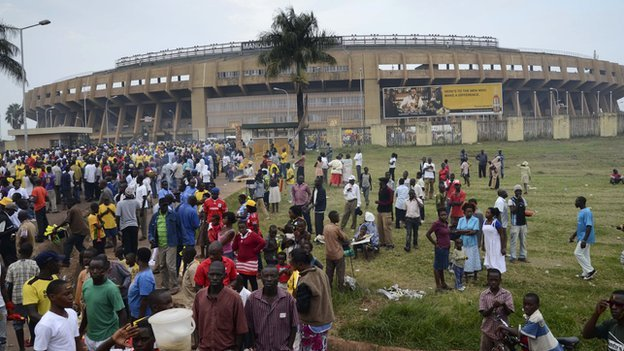 The Namboole national stadium in Kampala