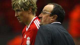 Fernando Torres and Rafael Benitez