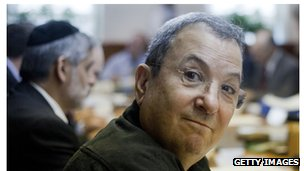 Ehud Barak at an Israeli cabinet meeting last month