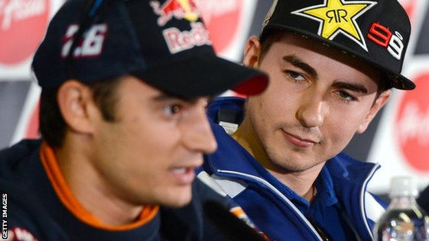 Dani Pedrosa and Jorge Lorenzo