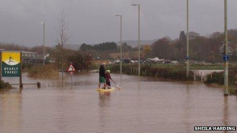 Flooding Topsham