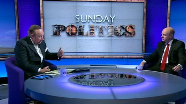 Andrew Neil and Liam Byrne