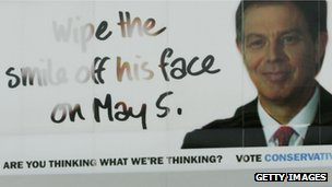 Conservative party campaign poster for the 2005 general election